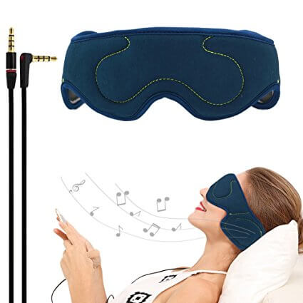 ACOTop-Velcro-Adjustable-Earphones has eye and ear mask to prevent light and ambient noise