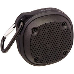 AmazonBasics-Shockproof-Waterproof-Speaker is cheap speaker for Echo Dot recommended by Amazon