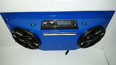 Blue UTV Radio Golf Cart Overhead Stereo Console with Speakers