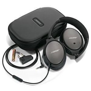 Bose-QuiteComfort-25 is a flexible headband, light weight, wired sleep headphone