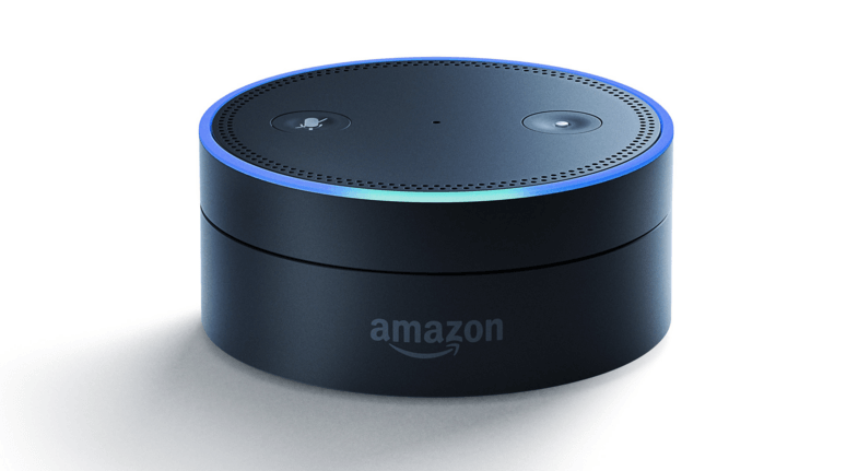 amazon-echo-dot-speaker is a wireless speaker which can take voice commands