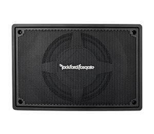 Rockford Fosgate PS-8 8inch 150W RMS Underseat Powered Car Stereo Audio Subwoofer for Underseat Installation in Car