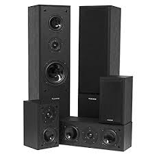 Fluance AVHTB Surround Sound Home Theater 5.0 Channel Speaker System