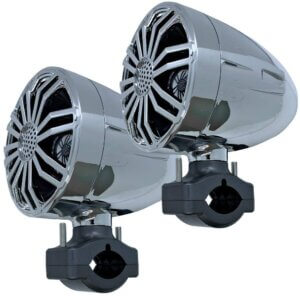 Seismic Audio Store SA-JMS35C Waterproof Chrome ATV Speakers