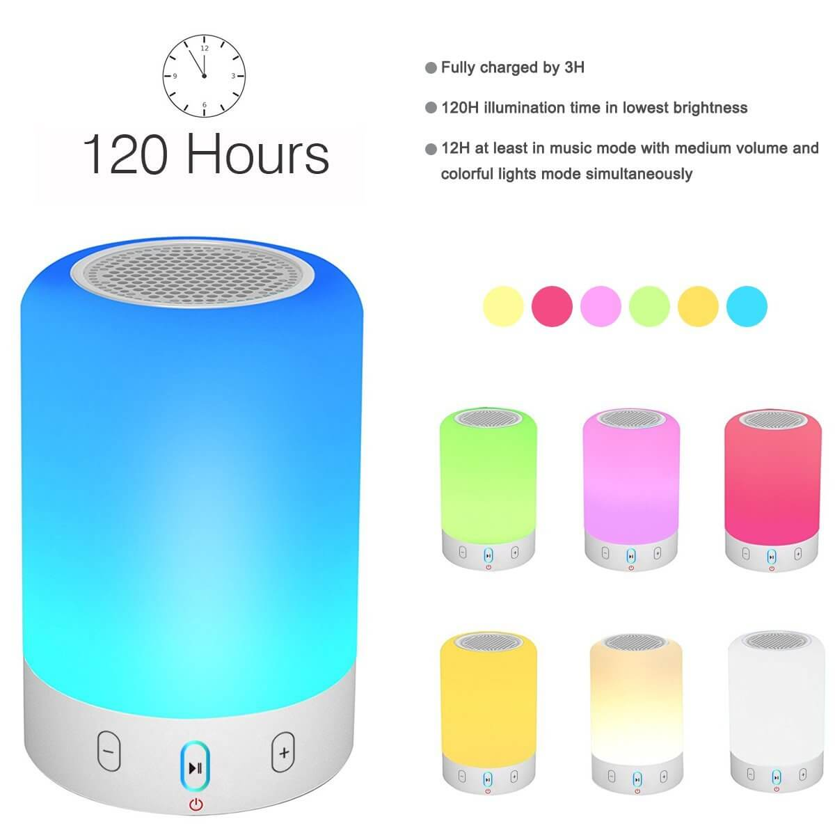 Portable Bluetooth Speaker with Lights From Voch