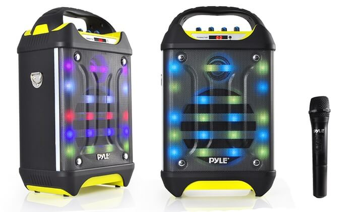 Pyle Wireless PA System Karaoke Speaker With Lights