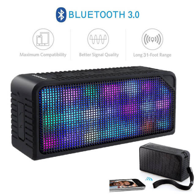 URPOWER Hi-Fi Bluetooth Stereo Speaker with Lights