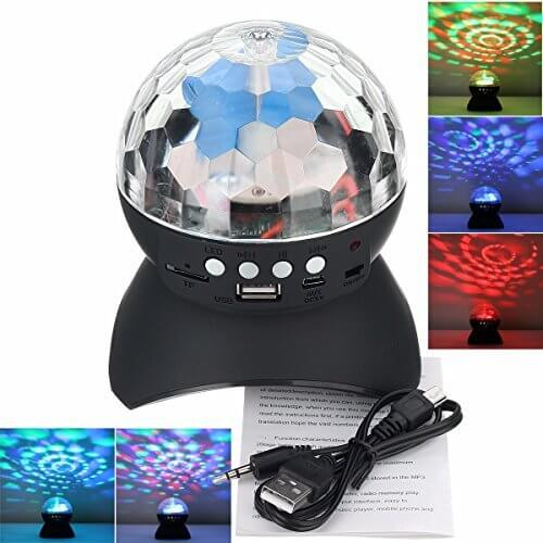 YARKOR Disco Ball Party with Bluetooth Speaker