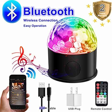 YouthBelief Disco Strobe Ball Bluetooth Speaker With Lights