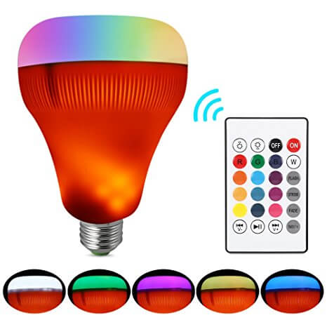 LightMe Music Light Bulb with Flame Effect Light
