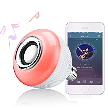 RAYWAY Bluetooth Speaker With LED Light Bulb