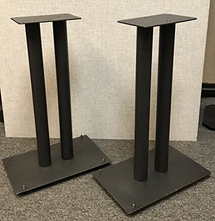 Steel Speaker Stands for Medium to Large Bookshelf Speakers From Vega AV
