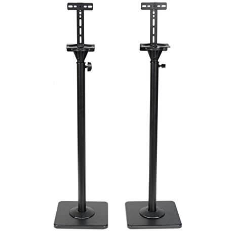 VideoSecu MS08B DA8 Height Adjustable Speaker Stands