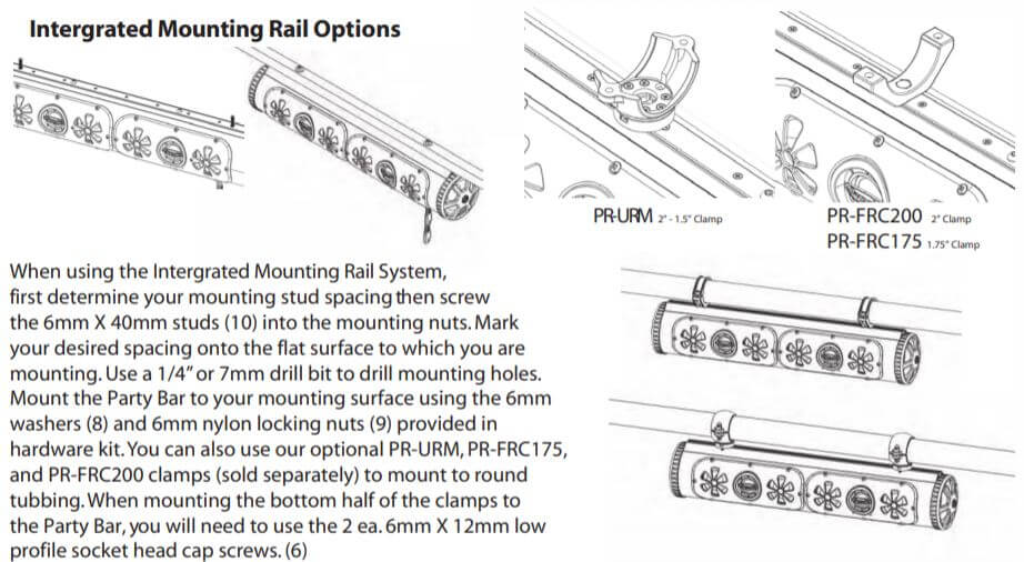Integrated mounting rail installation for BPB36 Soundbar