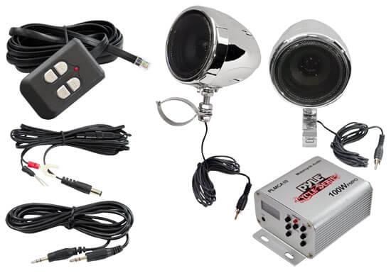 PYLE PLMCA10 Motorcycle Handlebar Speaker