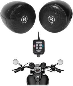 Rockville RockNRide Bluetooth Metal Motorcycle Handlebar Speakers