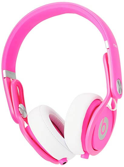 Beats by Dre Mixr Pink On-Ear Headphone