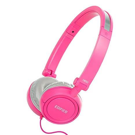 Edifier Noise-isolating Foldable H650 Hi-Fi On-Ear Pink Headphones
