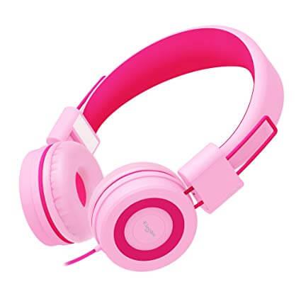 Elecder i37 Kids Pink Colored Headphones