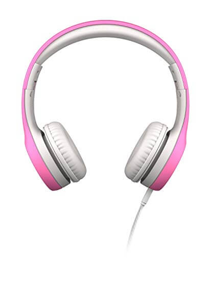 LilGadgets Connect+ Pink Premium Volume Limited Wired Headphones