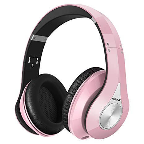 Mpow Pink Colored 059 Bluetooth Headphones Over Ear