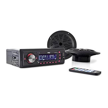 PYLE-PLMRKT12BK Digital AM FM Radio System For Golf Cart