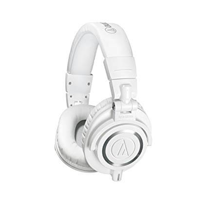 Audio Technica ATH M50xWH Professional Studio Monitor White Headphone