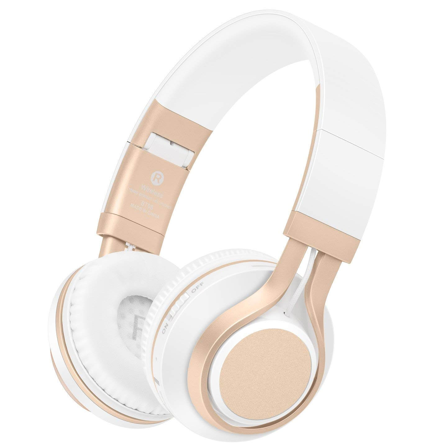Picun Bluetooth White Headphone