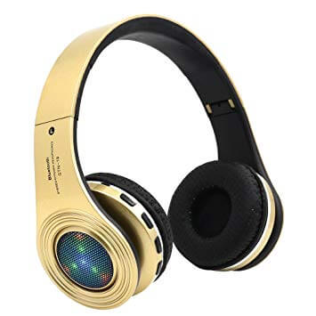 Bluetooth Golden Headphones Over Ear From Lavifree