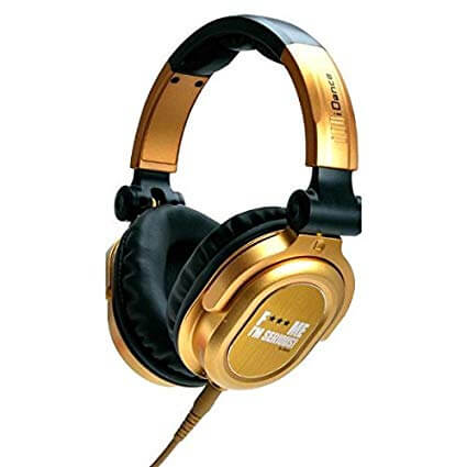 IDANCE FDJ500 Recording Studio - Gold and Black Headphone