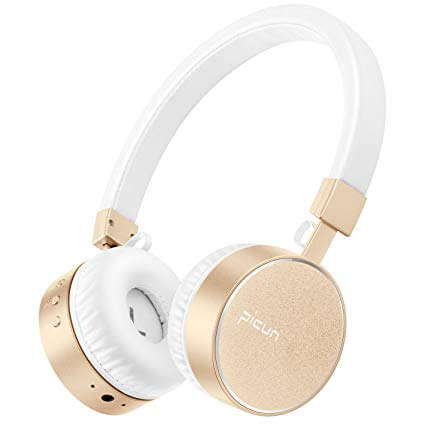 Kids & Girl's Bluetooth Golden Colored Headphone From Picun