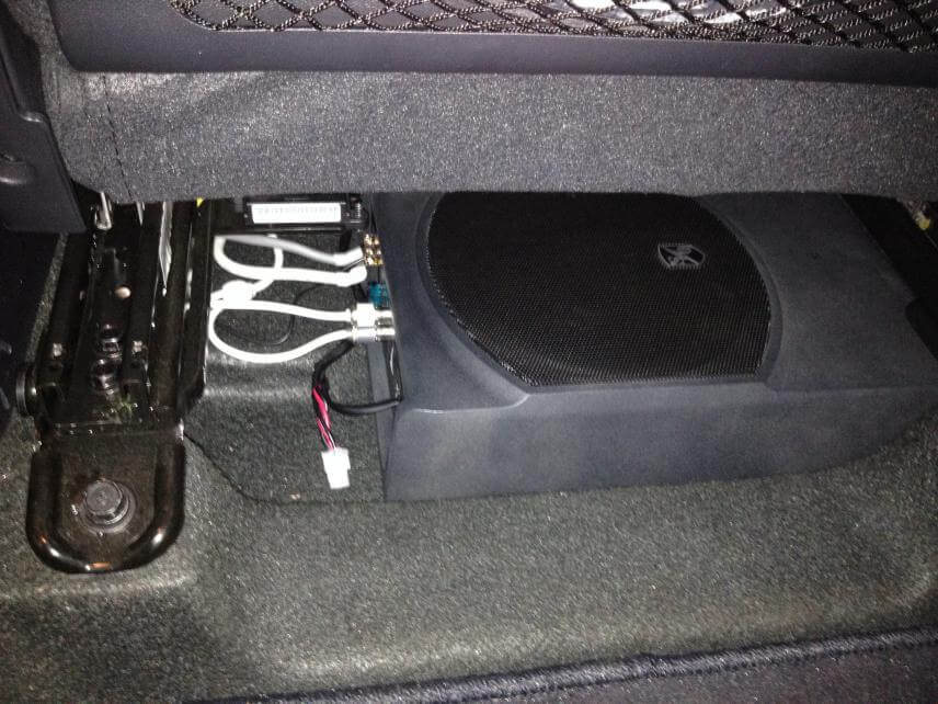 car subwoofer installation