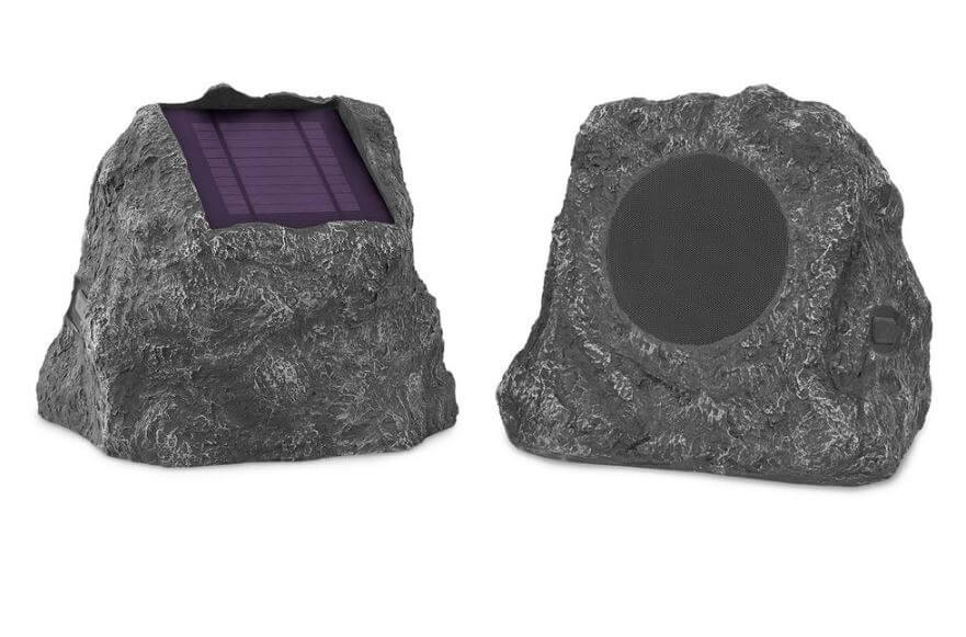 Innovative Technology Pair of Solar Charging Bluetooth Outdoor Rock Speaker