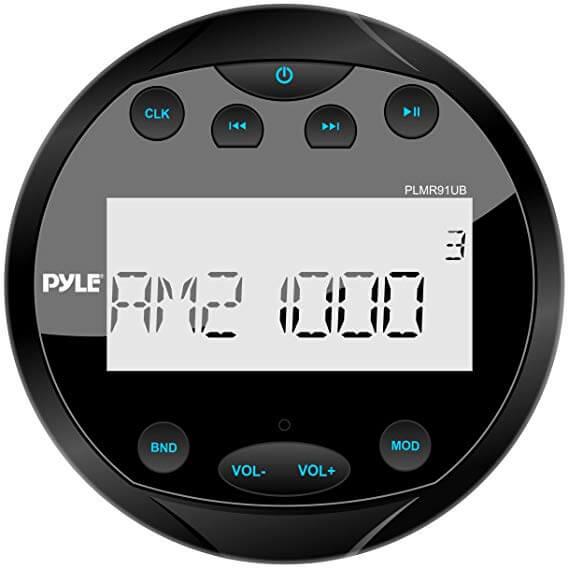Pyle Round Waterproof Stereo & Radio for UTV