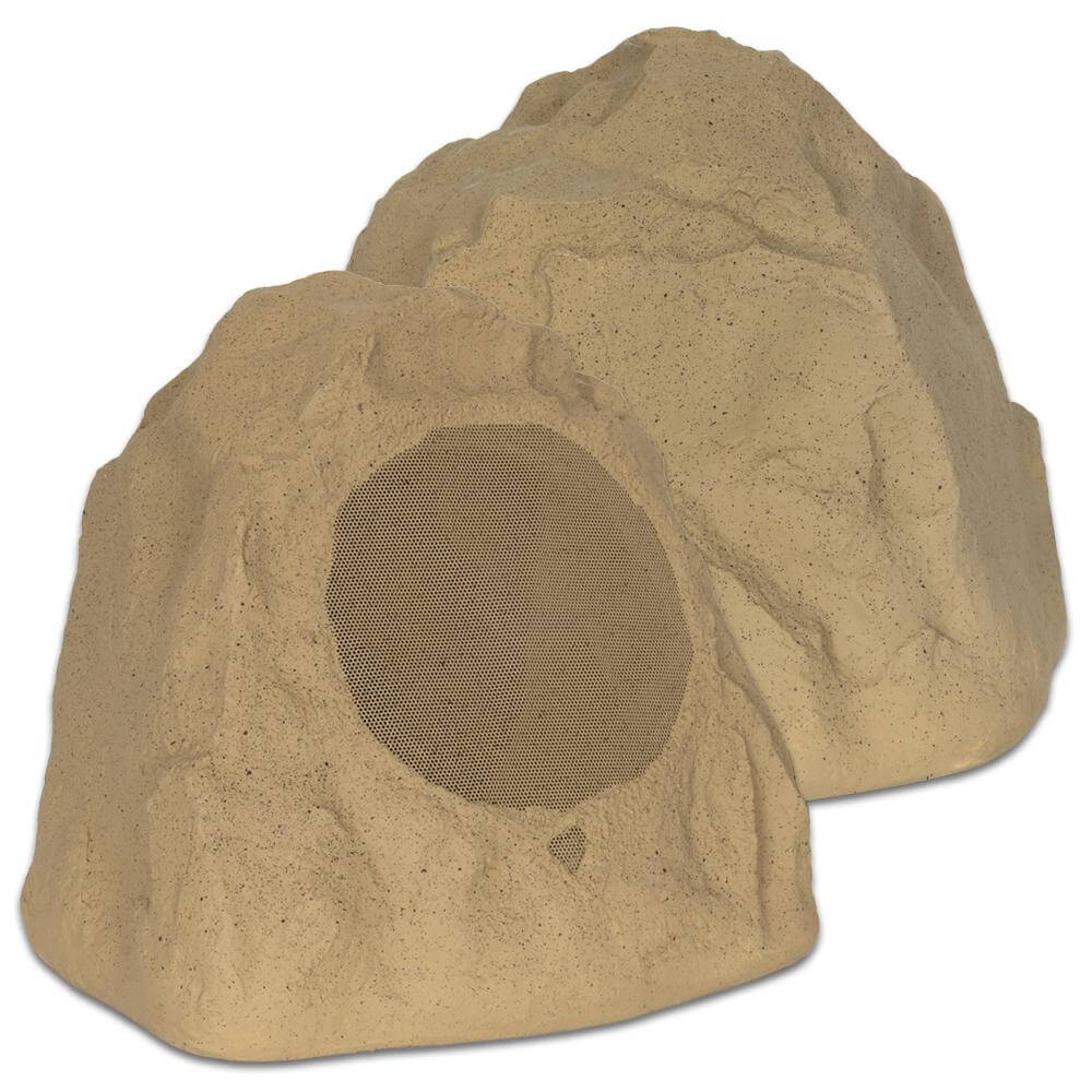 Theater Solutions 2R8S Outdoor Sandstone 8 inch 2 Rock Speakers
