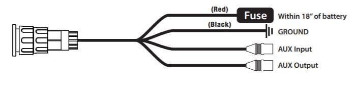 Power wiring for Powerbass XL-1200