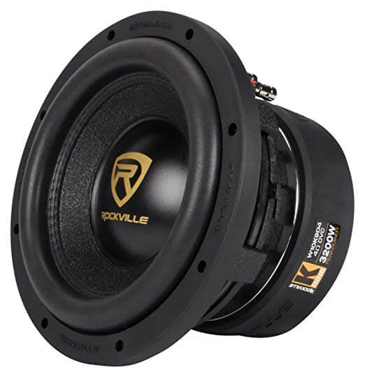 Rockville W10K9D4 10 inch 3200w Car Audio Subwoofer