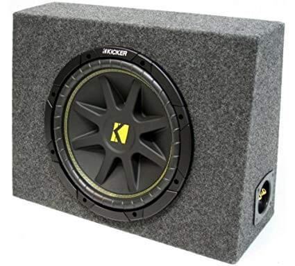 ASC Package Single 10Inch Kicker Sub Box Regular Cab Truck Subwoofer Enclosure C10 Comp 300 Watts Peak
