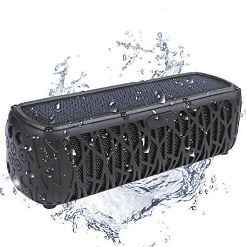 ABFOCE Portable Solar Bluetooth Speaker