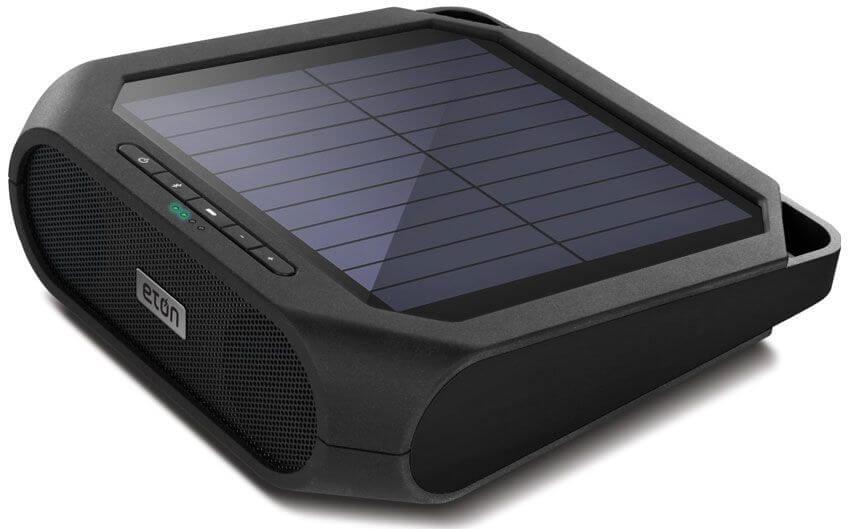 Eton Rugged Rukus Rechargeable Solar Powered Bluetooth Speaker