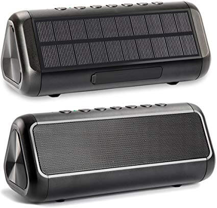 Friengood Solar Powered Bluetooth Speaker