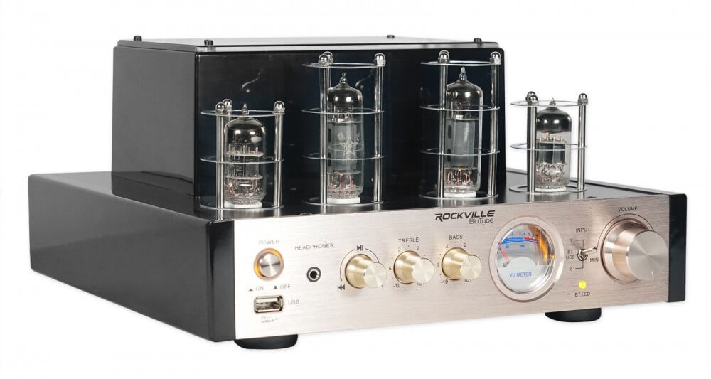 Rockville BluTube 70W Tube Amplifier-Home Theater Stereo Receiver with Bluetooth