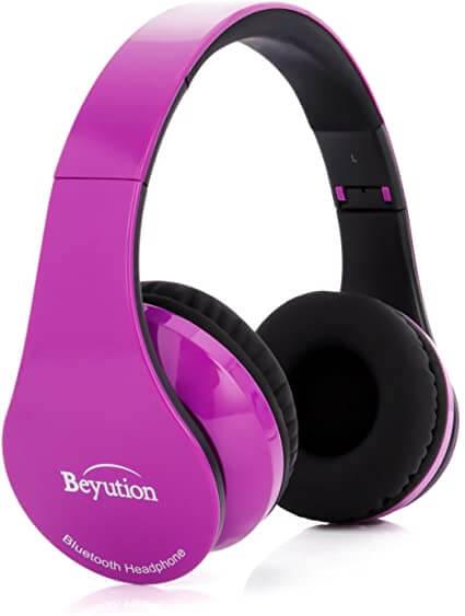Beyution Purple Headphone With Built-in Mic