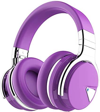 COWIN E7 Active Noise Cancelling Purple Bluetooth Headphone